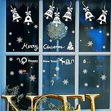DIY-Aufkleber Einkaufszentrum Shop Fenster Glas Aufkleber Restaurant Snowflake Wand Aufkleber neues Jahr Weihnachten Dekorationen