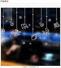DIY-Aufkleber neues Jahr Weihnachten wandaufklebern Mall shop Glastür Fensterdekoration tierische Ornamente Anhänger Aufkleber