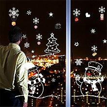 DIY-Aufkleber Wand Aufkleber Shop Window Shopping Glas Aufkleber verzieren Malerei Weihnachtsbaum Haus bell Schneeflocke Aufkleber