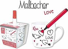 """DIY Becher """"Love"""" BECHER DIY LOVE MIT STIFT 59445"""