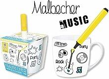 "DIY Becher ""Music"" BECHER DIY MUSIC MIT STIFT 59835"