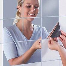 DIY Dekorative Spiegel Wandaufkleber selbstklebende Mosaik Fliesen Spiegel Decor 15 * 15 cm 16 STÜCKE für Familie Weihnachtsdekoration
