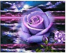 DIY Diamond Stickerei Blumenbild der Strashörner