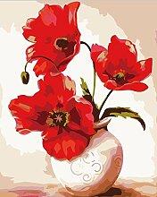 DIY digitale Malerei reine handbemalte rosa Rosen