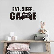DIY Englische Sprüche Zitate EAT Sleep Game