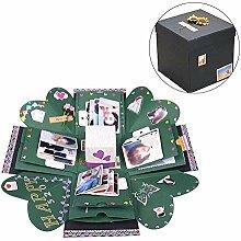 DIY Explosionsbox Fotoalbum, Explosion