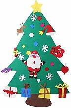 DIY Filz Weihnachtsbaum Set mit Ornamenten für