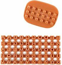 DIY Fondant Formen Alphabet Buchstaben Keks