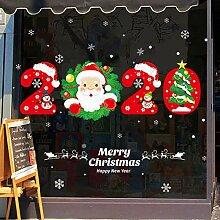 DIY Frohe Weihnachten Wandaufkleber Fenster Glas