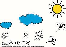 DIY Karton Ich mag Sunny Day Bee Cloud Kinder