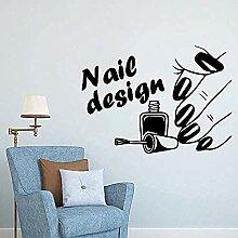 DIY Kunst Nagel Salon Wandkunst Aufkleber