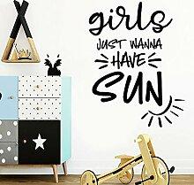 Diy Mädchen wollen nur Sonne Umweltschutz Vinyl