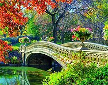 Diy Malen Nach Zahlen Gartenbrücke Landschaft