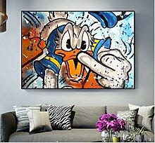 DIY Malen nach Zahlen Pop-Art-Cartoon Donald Duck