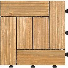 Diy parkettboden anti-schleudern,antiätzende bodenbeläge outdoor wood parkette garten patio floor-E 30x30cm(12x12inch)
