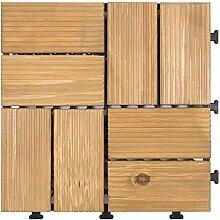 Diy parkettboden anti-schleudern,antiätzende bodenbeläge outdoor wood parkette garten patio floor-G 30x30cm(12x12inch)