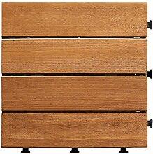Diy parkettboden anti-schleudern,antiätzende bodenbeläge outdoor wood parkette garten patio floor-B 30x30cm(12x12inch)