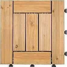 Diy parkettboden anti-schleudern,antiätzende bodenbeläge outdoor wood parkette garten patio floor-F 30x30cm(12x12inch)