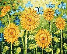 DIY pbn-paint, Zahlen Berühmtes Bild Sonnenblumen