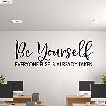 DIY selbstklebende Wandaufkleber Zitat Wandbild