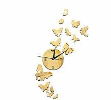 DIY Spiegel Uhr Acryl Wandaufkleber Wanduhr