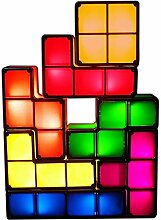 DIY Tetris Puzzle Neuheit LED Nachtlicht Stapelbar