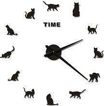 DIY Wanduhr 3D, Likeluk DIY Wanduhr Moderne Clock 3D Acryl Wandaufkleber Uhren Style Raum Home Dekorationen Tolles Geschenk