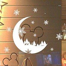 DIY Weihnachtswandaufkleber Fenster Glas Holiday