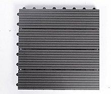 Diy wood parkette/outdoor wood parkette/korrosionsschutz/balkon,diy parkette/badezimmer wasserdicht bodenbelag-D 30x30cm(12x12inch)