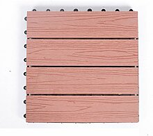 Diy wood parkette/outdoor wood parkette/korrosionsschutz/balkon,diy parkette/badezimmer wasserdicht bodenbelag-O 30x30cm(12x12inch)