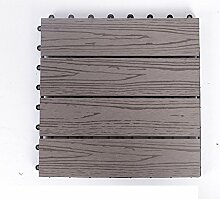 Diy wood parkette/outdoor wood parkette/korrosionsschutz/balkon,diy parkette/badezimmer wasserdicht bodenbelag-Q 30x30cm(12x12inch)