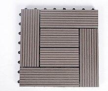 Diy wood parkette/outdoor wood parkette/korrosionsschutz/balkon,diy parkette/badezimmer wasserdicht bodenbelag-H 30x30cm(12x12inch)