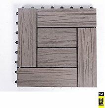 Diy wood parkette/outdoor wood parkette/korrosionsschutz/balkon,diy parkette/badezimmer wasserdicht bodenbelag-N 30x30cm(12x12inch)