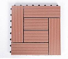 Diy wood parkette/outdoor wood parkette/korrosionsschutz/balkon,diy parkette/badezimmer wasserdicht bodenbelag-K 30x30cm(12x12inch)