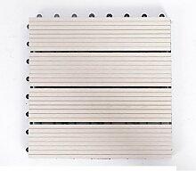 Diy wood parkette/outdoor wood parkette/korrosionsschutz/balkon,diy parkette/badezimmer wasserdicht bodenbelag-W 30x30cm(12x12inch)