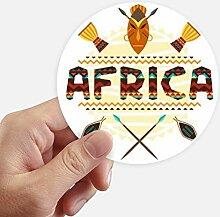DIYthinker Afrika Fancy Text Totem-Zeichen Runde