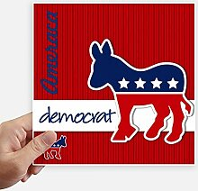 DIYthinker Amerika Esel Emblem Demokrat Stickers