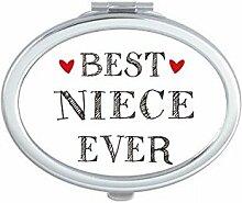 DIYthinker Best Niece Ever Zitat Herz Oval Kompakt
