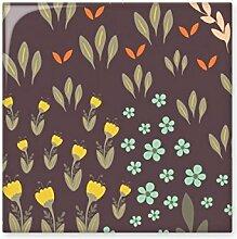 DIYthinker Braun-Blatt Blume Pflanze Farbe