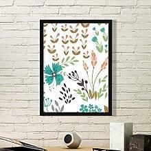 DIYthinker Braun-Blatt Blume Pflanze Farbe Kunst