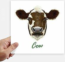 DIYthinker Braun-Weiß-Haus Milchkuh Tier