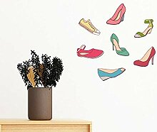 DIYthinker Bunte Cartoon-Absatz-Schuhe Muster