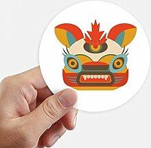DIYthinker Chinese Style Monster Runde Aufkleber