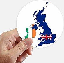 DIYthinker Großbritannien Karte Irland Flagge