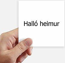 DIYthinker Hallo Welt Icelandic Quadrataufkleber