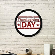 DIYthinker Happy Thanksgiving Day Seal Muster rund