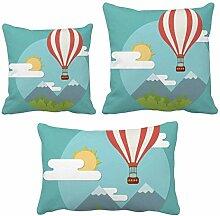 DIYthinker Hot Air Ballon Sun Cloud Muster Werfen