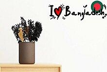 DIYthinker Ich Liebe Bangladesch Wort Flag Love