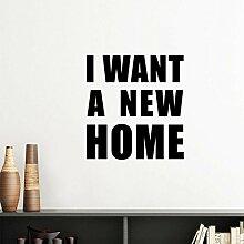 DIYthinker Ich möchte EIN neues Haus Silhouette