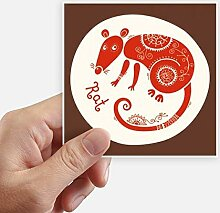 DIYthinker Jahr der Ratte Tier China Sternzeichen
